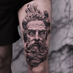 tattoo zeus realismo * tattoo zeus & tattoo zeus mythology & tattoo zeus preto e cinza & tattoo zeus poseidon & tattoo zeus greek gods & tattoo zeus design & tattoo zeus realismo & tattoo zeus braço Zeus Tattoo, Statue Tattoo, God Tattoos, Body Art Tattoos, Tattoos For Guys, Diy Tattoo, Posiden Tattoo, Tattoo Model Female, Greek God Tattoo