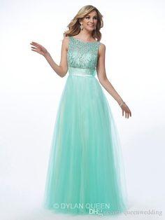 Queenwedding 2015 Prom Dresses Party Evening Floor-Length Beading Vestidos De Fiestas Mint Green Formal Dresses Evening Backless Bow SX311, $146.6 | DHgate.com