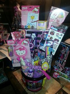 Hello kitty monster high basket/angies party creations