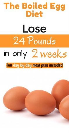 The Egg Diet for weight loss