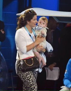 Mirka and her son