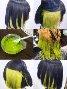 Cute Hair Colors, Pretty Hair Color, Beautiful Hair Color, Hair Color Purple, Hair Dye Colors, Hair Color Underneath, Hair Color Streaks, Neon Hair, Pinterest Hair