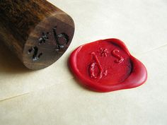 DIY wax stamp. hello, sunday morning, meet your date.