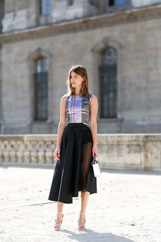 80 French Style Lessons To Learn Now #refinery29  http://www.refinery29.com/2014/10/75565/paris-street-style-photos-fashion-week-2014#slide9  Don't: Forget your solid briefs when going sheer.