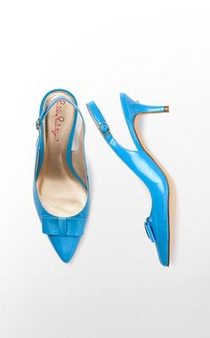 Kat Kitten Heel - Also comes in lime green and tan, so super cute for the spring.  @Lilly Pulitzer Spring 2013 line.