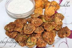 Fried Pickles in the Actifry. The Frilly Apron Fried Dill Pickles, Fried Pickles Recipe, Air Fryer Recipes Pickles, Air Fryer Oven Recipes, Tefal Actifry, Nuwave Air Fryer, Actifry Recipes, Air Frier Recipes, Air Fried Food