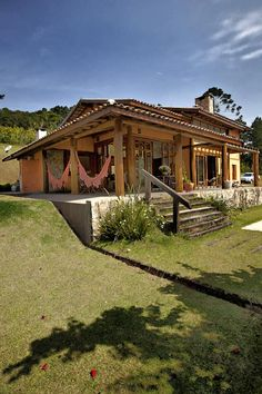 Architecture – Enjoy the Great Outdoors! House In The Woods, My House, Jardin Decor, Boho Home, Pergola Designs, My Dream Home, Home Deco, Future House, Bungalow