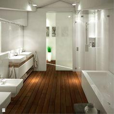 Łazienka na poddaszu - Łazienka - Styl Nowoczesny - Karolina Krac projektowanie wnętrz