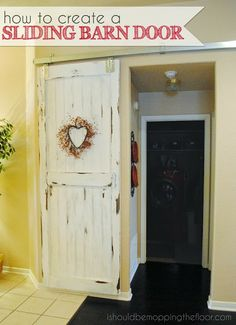 For our master to master bath door.  How to Create a Sliding Barn Door