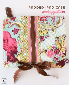 DIY a fun and cute case to store your tech with this free padded iPad case sewing pattern. A free tutorial for a padded tablet case to sew.