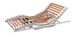 Sommier Riposa Reflex: Authentiquement Suisse. Cadre Alu lattes multicouches avec flexibilité permanente. Avantages: 30 mm amplitude. Détente ponctuelle sans point de pression. Système à amortisseurs articulés indépendants. 100% de surface de couche flexible. Régulation individuelle de la zone médiane. Soutien du dos Reflex Adapté à tous les lits. Disponible en 5 fonctions motorisées, fonction fix, tête relevable, tête et pieds relevables dans toutes les dimensions standard et sur mesure.