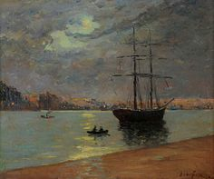 Maxime Maufra (French, 1861-1918)  Evening fog over Nantes