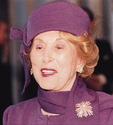 Estee Lauder (1908 - 2004) Founder of the Estée Lauder cosmetics company