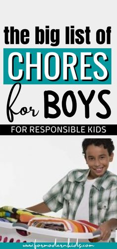 A list of chores for boys from toddlers to teens. Use this list to teach responsibilty around the house and important life skills also to your boys. These chores for kids will definitely help boys understand the importance of helping and doing something valuable! #choresforkids #choresforkidsbyage Allowance Chart, Chores And Allowance, Chores For Kids By Age, Middle School Boys, Chore List, Charts For Kids, Three Year Olds, Teen Boys, Toddler Preschool