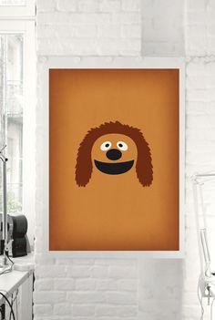 The Muppet Show Rowlf Minimalist Poster  Retro por TheRetroInc
