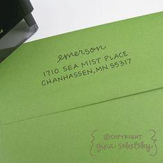 Handwritten Address Stamp