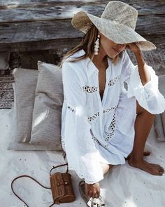 Inspiración Para Usar Sombreros De Paja En Verano