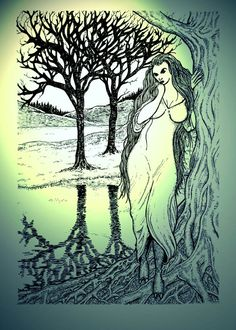 Theglaistigis a creature fromScottish mythology, a type offuath. It is also known asmaighdean uaine(green maiden), and may appear as a woman of beautiful ormonstrousmien, as a half-woman half-goat similar to asatyr, or in the shape of a goat.The lower goat half of her hybrid form is usually disguised by a long, flowing green robe or dress, and the woman often appears grey with long yellow hair.The glaistig could serve in legend as both a malign and benign creature.