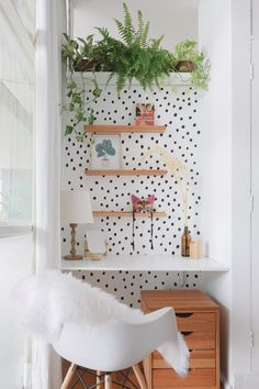 Small home office decoration. Home Office Space, Home Office Design, Home Office Decor, Home Decor, Office Ideas, Apartment Office, Apartment Interior, Room Ideas Bedroom, Bedroom Decor