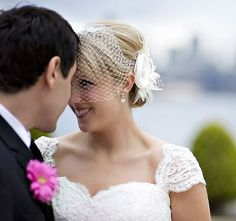 Rustic Wedding Fascinator Veil Set Bridal Hair by YJDesign on Etsy, $119.00