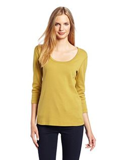 Three Dots Red Women's Crop Sleeve Top (Celery Seed)