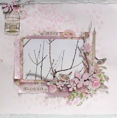 and as our kits are still on their way i wanted to share this layout Ive created using that lov. Rose Stencil, Heart Stencil, Scrapbook Pages, Scrapbooking Layouts, Magnolia Branch, Metallic Pink, Pink Black, True Romance, Crafty Projects