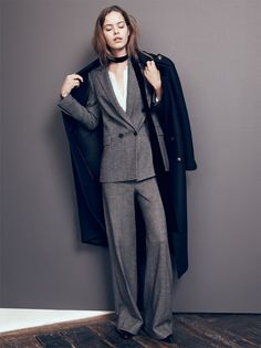 Zara's wide-leg suit for Fall