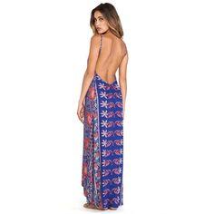 FLYNN SKYE Scoop Back Maxi Dress in Blue #MaxiDresses