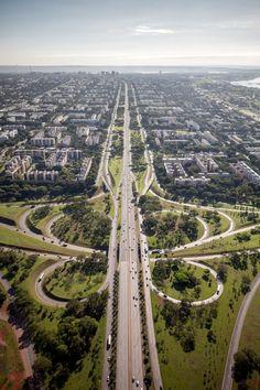 """Brasília. Reminds me of the """"Spaghetti Loop"""" in San Antonio."""