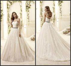Find More Wedding Dresses Information about Elegant floor length party dress Beautiful appliques off the shoulder lace up tulle fabric a line wedding dresses 2014 NT 374,High Quality dress up summer girls,China dress up fashion show Suppliers, Cheap dress phone from Suzhou Amy wedding dress co., LTD on Aliexpress.com
