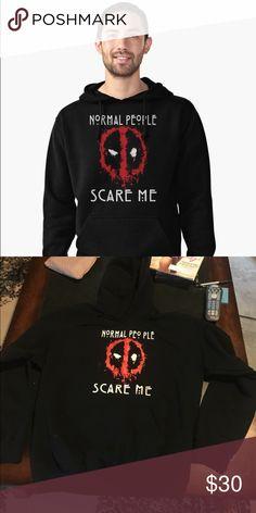 """""""Normal People Scare Me"""" Hoodie Medium unisex Gildan brand hoodie. Gildan Sweaters"""