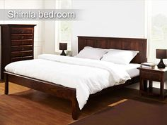 #Shimla Bedroom #Furniture Remember family outings to the beautiful valleys of Shimla.  Bring to life those old days with Shimla Furniture from the house of Inliving. To buy click the link - http://www.inliving.com/wooden-furniture/bedroom/shimla