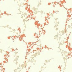Botanical Fantasy Thanks for shopping Mahones Wallpaper Shop for pattern book name Botanical Fantasy by Ashford House manufacturer Ashford house pattern name DELICATE FLORAL BRANCH. Beige Wallpaper, Paintable Wallpaper, Orange Wallpaper, Wallpaper Roll, Pattern Wallpaper, Wallpaper Borders, Ashford House, Transitional Wallpaper, Discount Wallpaper