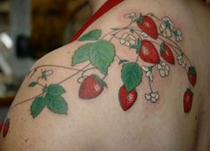 Remember that adorable 80s/90s kitchen stuff with Strawberries?  Omg such a cute tattoo!