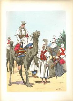 Saharan Mesharist of the Foreign Legion Military Art, Military History, Military Uniforms, French Foreign Legion, Free In French, Epic Movie, French Army, North Africa, Art History