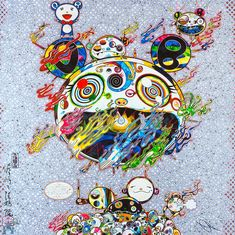 Chaos, by Takashi Murakami. One of the biggest names in the contemporary art world, Japanese artist Takashi Murakami's work is immed. Superflat, Takashi Murakami Prints, Murakami Artist, Murakami Flower, Modern Art, Contemporary Art, 4 Tattoo, Art Japonais, Mural Painting