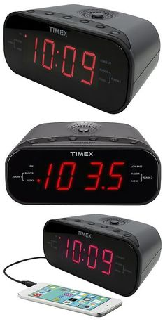 Digital Clocks and Clock Radios: Timex T231gy Am Fm Dual Alarm Clock Radio With 1.2-Inch Red Display And Line-... -> BUY IT NOW ONLY: $30.68 on eBay!