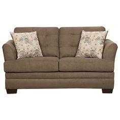 Simmons 174 Velocity Shitake Sofa With Gigi Pillows Home