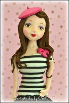 Girl TUTORIAL Cake topper