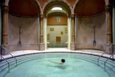 At the Friedrichsbad baths in Baden-Baden, Germany, everything you do — shower, swim, get massages, walk through drafty hallways — you must do completely naked.