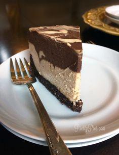 Peanut Butter Cup Cheesecake {Vegan, GF} #Vegan #Gluten-Free