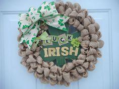 St. Patricks day wreath St. Patricks day by ChloesCraftCloset