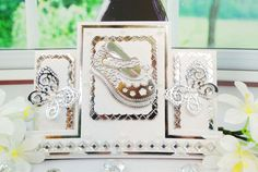 Tattered Lace - Dies - Center Stepper Card x (requires large format machine) Baby Shower Cards, Baby Cards, Center Step Cards, Stepper Cards, Shaped Cards, Baby Girl Shoes, Your Cards, Centre, Birthday Cards
