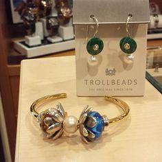 Trollbeads bracelet and earrings