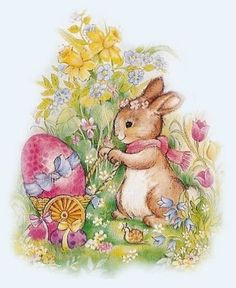 Easter Photo: This Photo was uploaded by Find other Easter pictures and photos or upload your own with Photobucket free image and video hosti. Easter Art, Easter Crafts, Easter Bunny, Easter Eggs, Vintage Easter, Vintage Holiday, Lapin Art, Decoupage, Easter Illustration