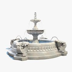 Fountain Model available on Turbo Squid, the world's leading provider of digital models for visualization, films, television, and games. Stone Fountains, Water Fountains, Water Fountain Design, Sims House Plans, Spanish Architecture, Park Landscape, Trevi Fountain, 3d Max, Cool House Designs