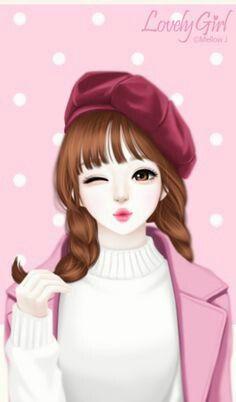 Illustration Girl Korean Cute Wallpapers Iphone Art