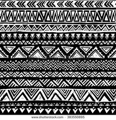 black and white tribal pattern.