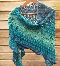 Ravelry: Petrolia Shawl pattern by Annie Germeraad Crochet Scarves, Crochet Shawl, Knit Crochet, Free Crochet, Tunisian Crochet, Crochet Triangle, Triangle Scarf, Ravelry, Van Lego
