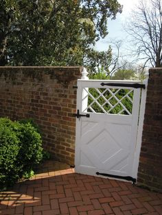 White painted gate